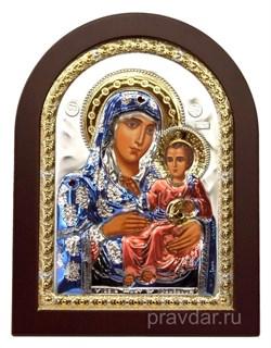 Иерусалимская Божья Матерь, икона с серебряным окладом - фото 7152