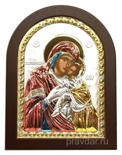 Сладкое Лобзание образ Божией Матери, икона с серебряным окладом - фото 7160