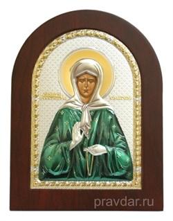 Матрона Московская, икона с серебряным окладом - фото 7176