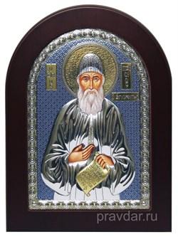 Паисий Св. Преподобный, икона с серебряным окладом - фото 7192