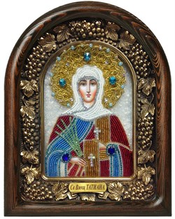 Татьяна Святая мученица, дивеевская икона из бисера - фото 7200