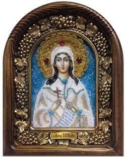 Татьяна Святая мученица, дивеевская икона из бисера - фото 7206