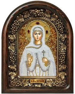 Наталия Святая мученица, дивеевская икона из бисера - фото 7209