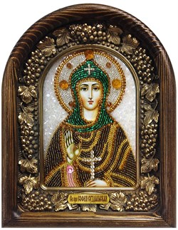 София Святая Преподобная, дивеевская икона из бисера - фото 7225