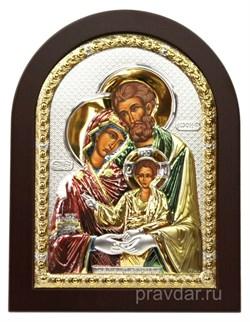 Святое Семейство, икона с серебряным окладом - фото 7242