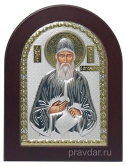 Паисий Св. Преподобный, икона с серебряным окладом - фото 7301