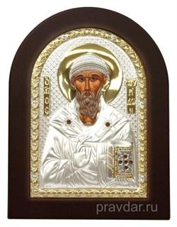 Спиридон Тримифунтский, икона с серебряным окладом - фото 7305