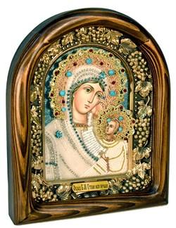 Утоли моя печали, икона Божьей матери из бисера ручной работы - фото 7328