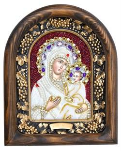 Тихвинская Божья Матерь, дивеевская икона из бисера - фото 7330