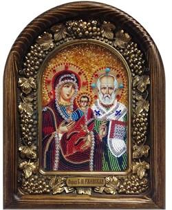 Ржевская Божья Матерь, дивеевская икона из бисера - фото 7336