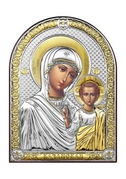 Казанская Божия Матерь, серебряная икона с позолотой - фото 7404