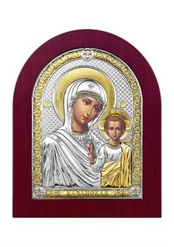 Казанская Божия Матерь, серебряная икона деревянный оклад - фото 7411