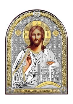Господь Вседержитель, серебряная икона с позолотой - фото 7433