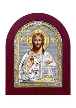 Господь Вседержитель, серебряная икона деревянный оклад - фото 7439