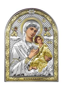 Страстная Божия Матерь, серебряная икона с позолотой - фото 7503