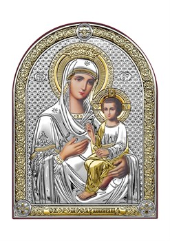 Скоропослушница Божия Матерь, серебряная икона с позолотой - фото 7517