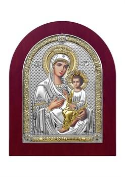 Скоропослушница Божия Матерь, серебряная икона деревянный оклад - фото 7523