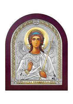 Ангел Хранитель, серебряная икона деревянный оклад - фото 7646