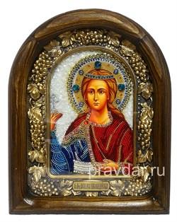 Василиса Никомедийская, дивеевская икона из бисера - фото 7819