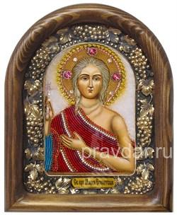 Мария Египетская, дивеевская икона из бисера ручной работы - фото 8015