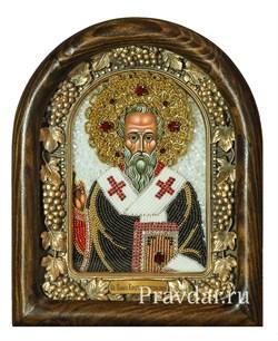 Павел Константинопольский, дивеевская икона из бисера ручной работы - фото 8021
