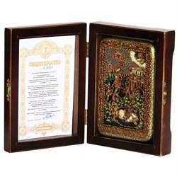 Дмитрий Солунский, чудо о царе Колояне икона ручной работы под старину - фото 8052