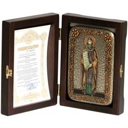 Кирилл Святой равноапостольный, икона ручной работы под старину - фото 8072