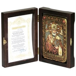 Николай Чудотворец икона ручной работы под старину - фото 8120