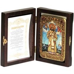 Тихон Задонский икона ручной работы Old modern - фото 8161
