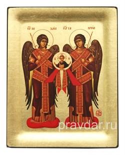 Архангелы Михаил и Гавриил, копия чудотворной иконы с Афона - фото 8477