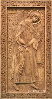 Михаил Архангел, резная икона на дубовой цельноламельной доске (ростовая) - фото 8798