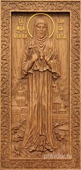 Елисавета Святая княжна, резная икона на дубовой цельноламельной доске (ростовая) - фото 8913
