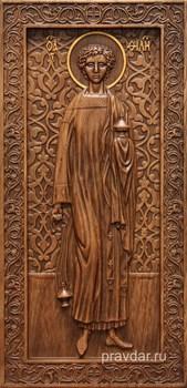Филипп Святой, резная икона на дубовой цельноламельной доске (ростовая) - фото 8953