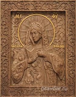 Калужская Божия Матерь, резная икона на дубовой цельноламельной доске - фото 9131