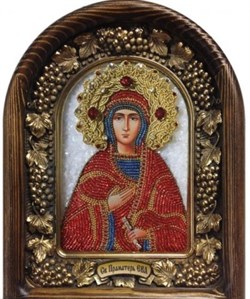 Святая праматерь Ева, дивеевская икона из бисера - фото 9192