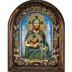 Иоанн Предтеча святой пророк Божий и креститель, дивеевская икона из бисера ручной работы - фото 9212