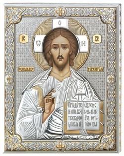 Господь Вседержитель икона в серебряном окладе (Valenti) - фото 9248