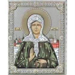 Матрона Московская икона в серебряном окладе (Valenti) - фото 9249