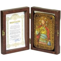 Святой мученик Виктор Дамасский икона ручной работы под старину - фото 9303
