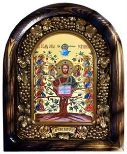 Спас Древо Жизни, дивеевская икона из бисера ручной работы - фото 9398