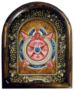 икона Всевидящее Око Божие, дивеевская икона из бисера ручной работы - фото 9409