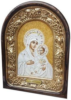 Вифлеемская Божья Матерь, дивеевская икона из бисера ручной работы - фото 9415