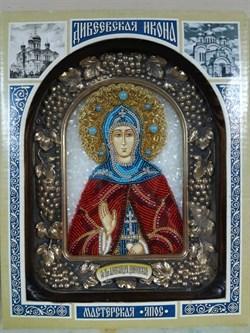 Александра Дивеевская Преподобная, дивеевская икона из бисера - фото 9422