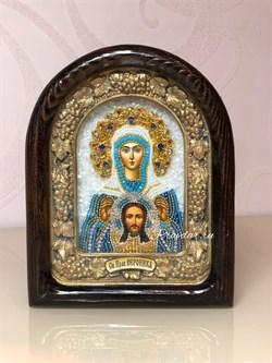 Вероника Праведная, дивеевская икона из бисера - фото 9428