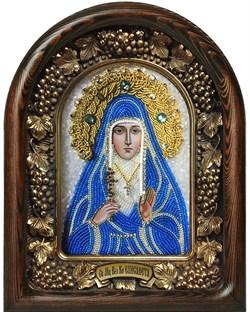 Икона Святая мученица великая княгиня Елисавета, дивеевская икона из бисера - фото 9440
