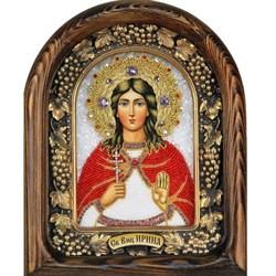 Ирина Македонская, дивеевская икона из бисера - фото 9494