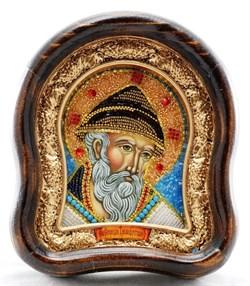 Спиридон Тримифунтский, дивеевская икона из бисера ручной работы - фото 9556