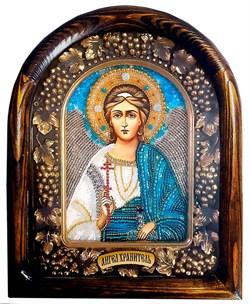 Ангел Хранитель, дивеевская икона из бисера ручной работы - фото 9561