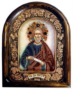 Петр Апостол, дивеевская икона из бисера ручной работы - фото 9583