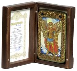 Михаил Архангел икона ручной работы под старину - фото 9636